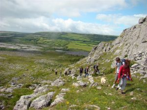 Guided walk at Mullaghmore, Burren National Park