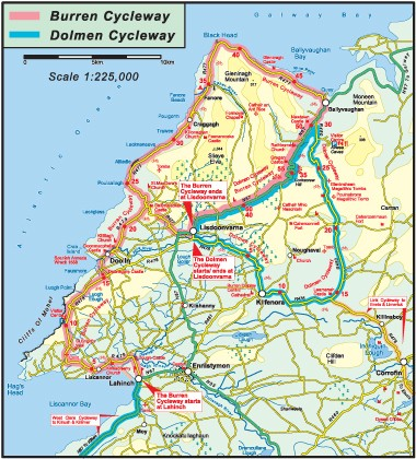 Day 1 Cycling Dolmen Cycleway     Lunch at Burren Fine Wine  amp  Food or