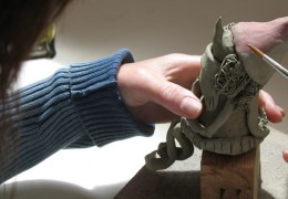 Boghill Centre painting clay figure