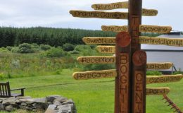 Boghill Centre sign post