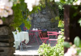 Burren Perfumery outside tables