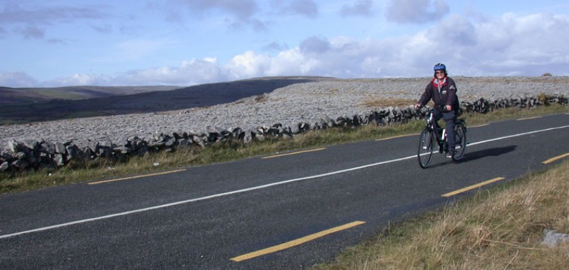 E-Whizz biking in the Burren