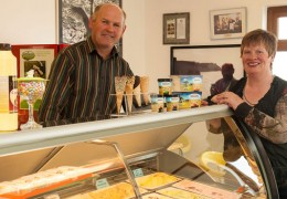 Roger and Brid Fahy of Linnalla Ice-Cream