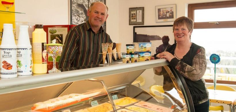 Roger and Brid Fahy of Linnalla Ice-Cream