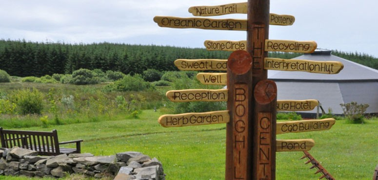Boghill Centre sign post