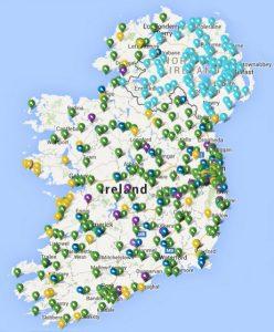 ESB e-car charging map